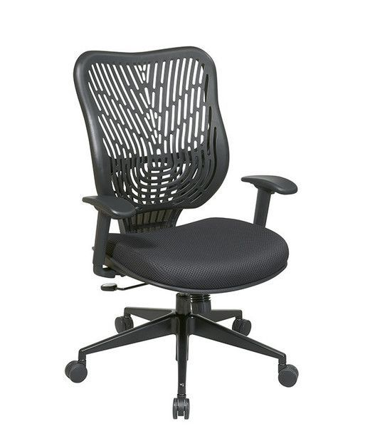 Office Star 88 33BB918P Unique Self Adjusting Raven SpaceFlex Back And Raven  Mesh Seat Managers Chair | Products | Pinterest | Office Star