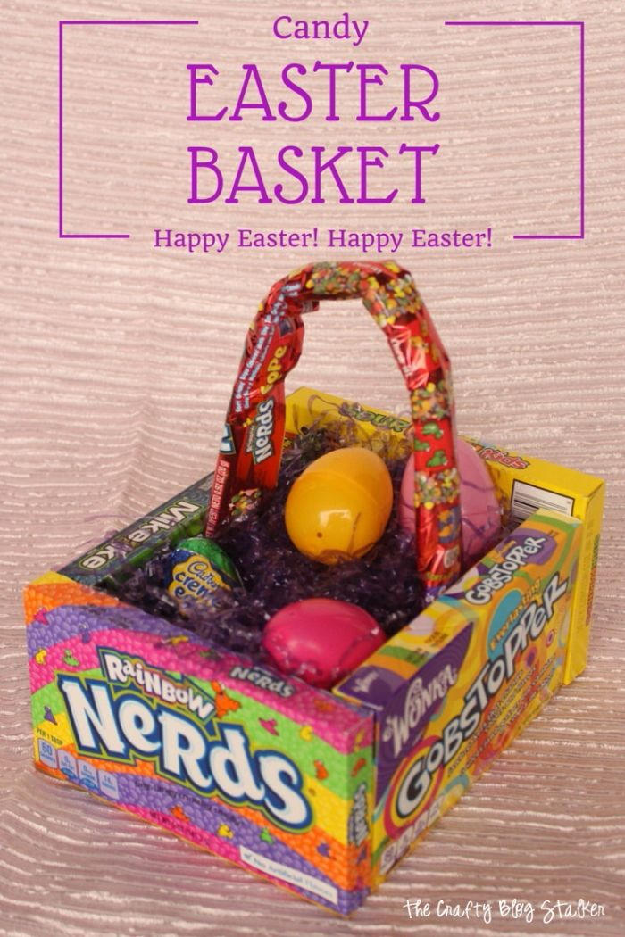 How to make a candy easter basket easter holidays simple diy and how to make a candy easter basket the crafty blog stalker negle Gallery