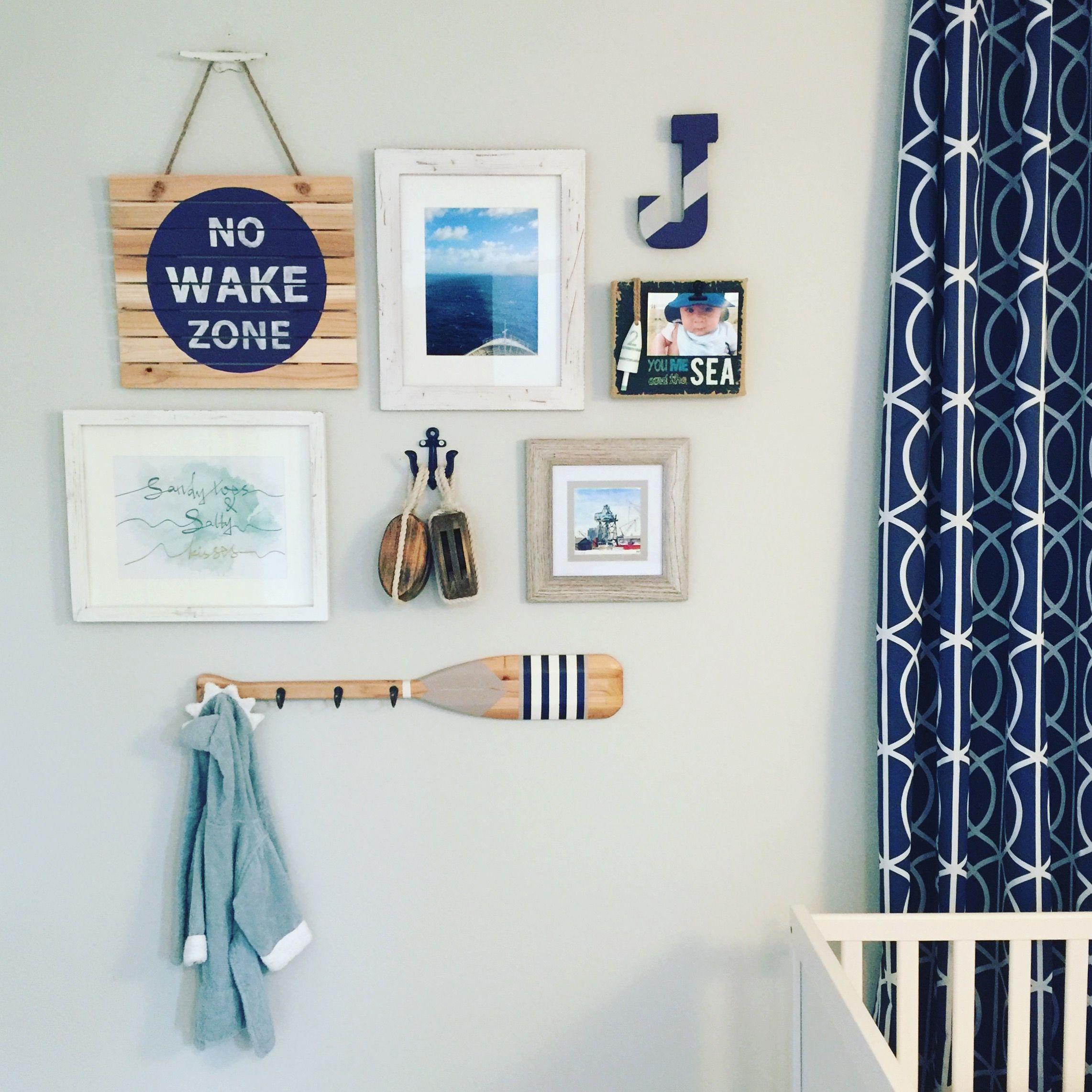 Our Nautical Nursery Gallery Wall Nautical Baby Room Nautical