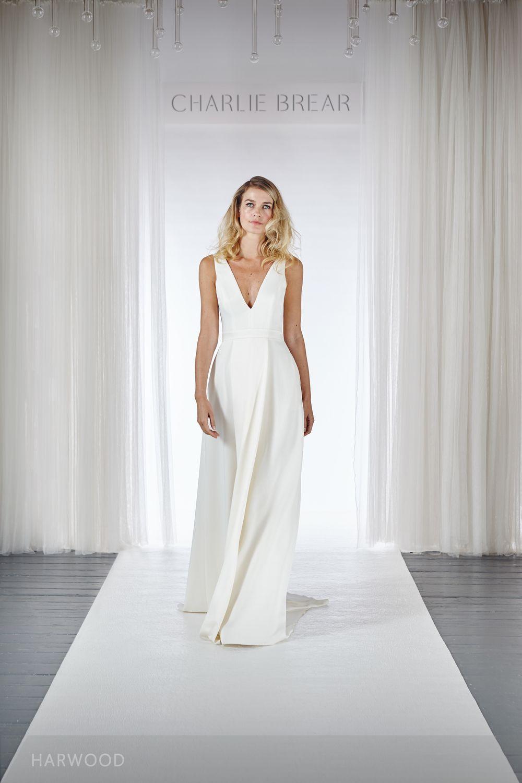 HARWOOD — Charlie Brear | Plain wedding dress, Bridal