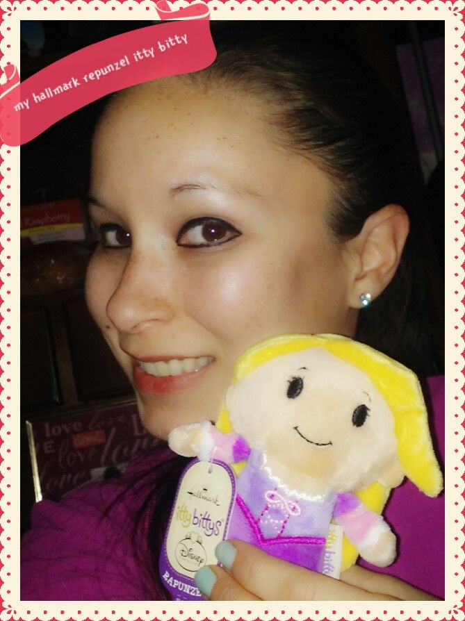 "check out my new little hallmark repunzel itty itty! its so adorable i had to take a selfie to share!!! check theses out at your local hallmark or hallmark.com!!   ""i received this product complimentary from influenster  for testing and reviewing purposes, however all opinions are my own"""