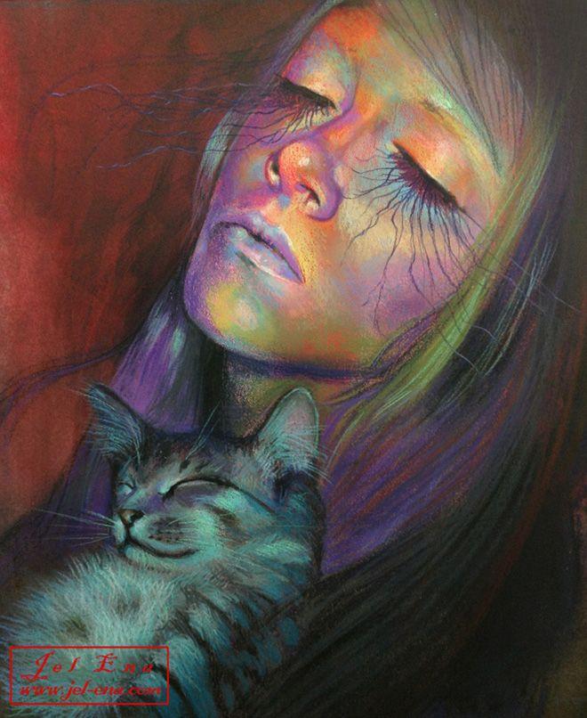 Jel Ena, Serbian artist (aka Jelena Markovic) based in Los Angeles, CA   + aka medusainfurs
