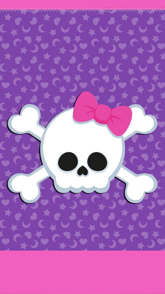 Girly skull iphone wallpaper background iphone - Skull wallpaper iphone 6 ...