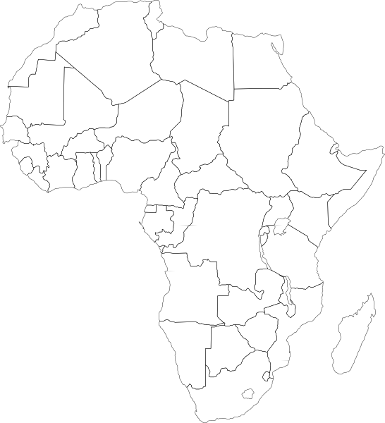 africa map white vector