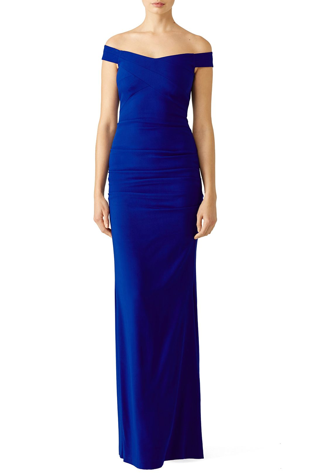Blue Vive Gown | Nicole miller, Gowns and Royal blue