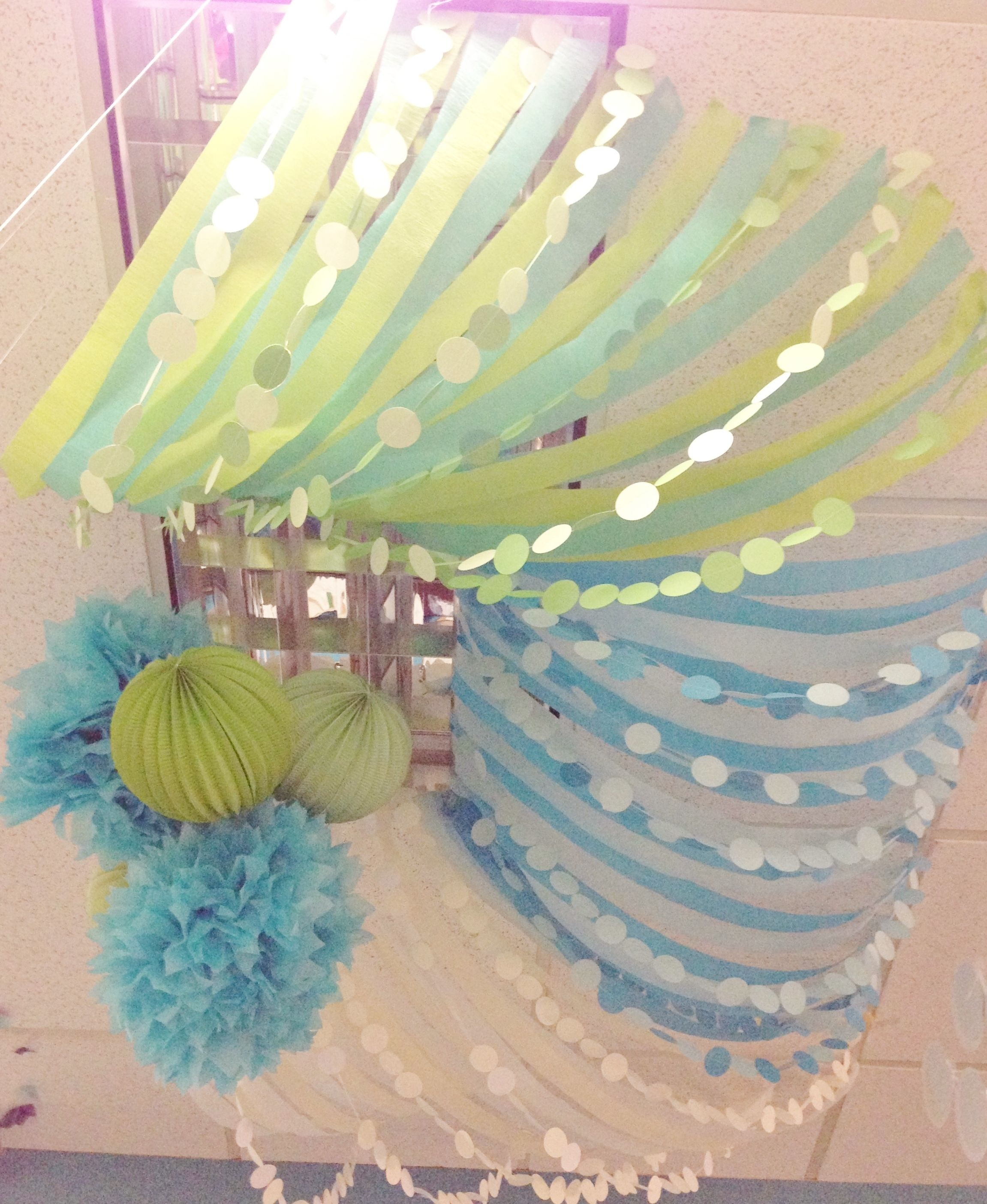 Colorful Streamers For Ceiling Decorations Great Birthday Decoration Idea Diy Party Decorations Homemade House Decorations Balloon Decorations