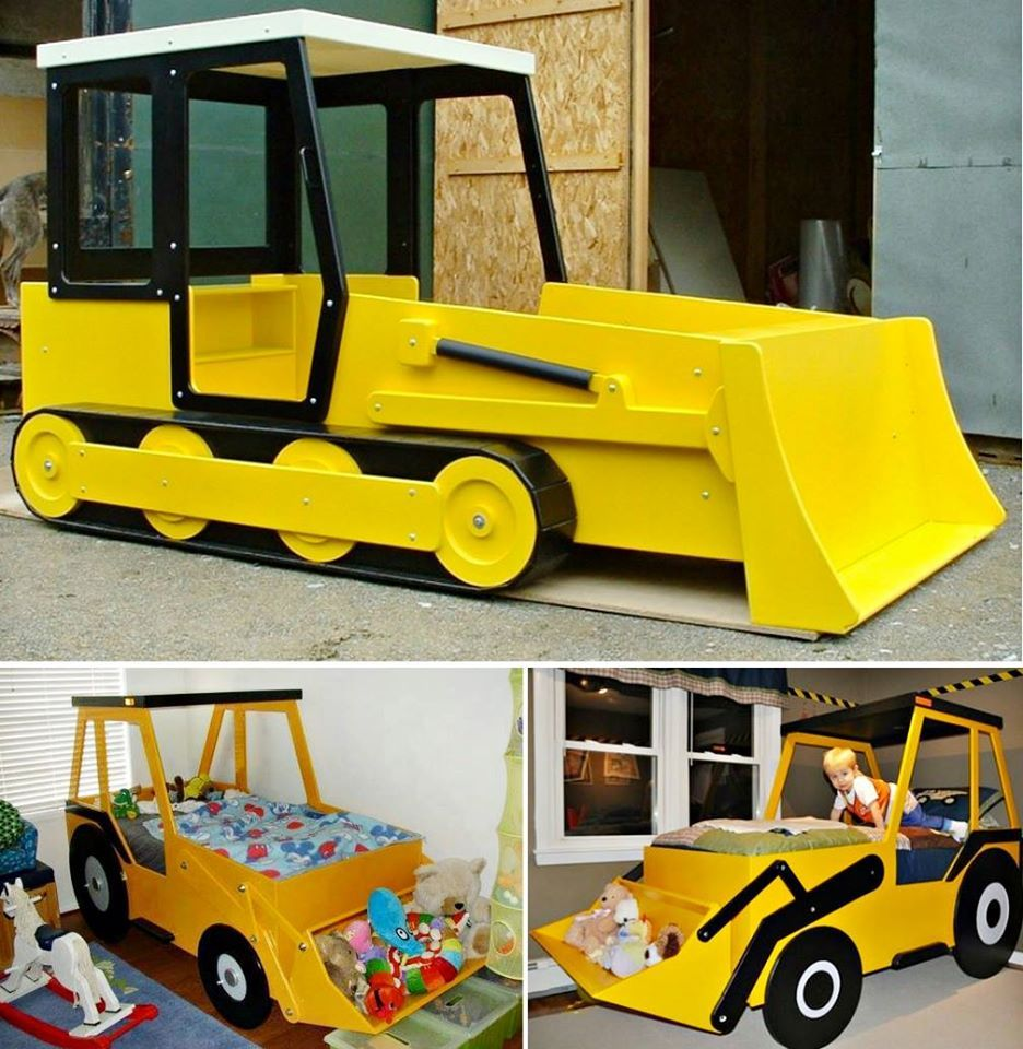 Bulldozer Bed Kid beds