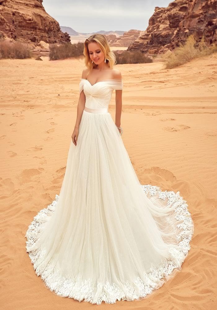 Best Beach Wedding Dresses For 2020 Off Shoulder Wedding Dress