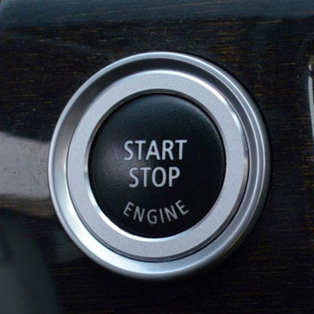 42363aa06916 Car Carbon Fiber Engine Start Stop Push Button Ignition Key Ring Decor Trim  For BMW 3 series E90 E92 E93 E89 Z4 2009 2010 2011 Re…