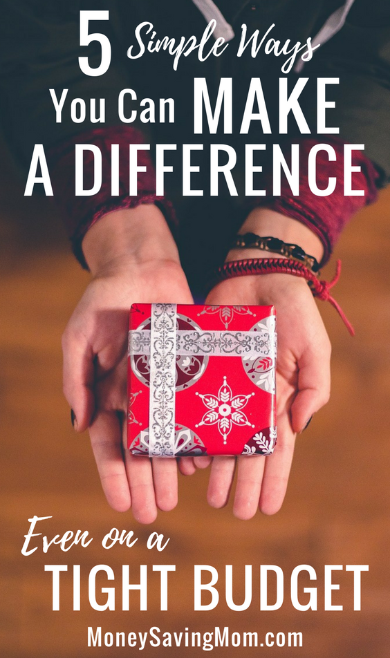 Money Makes Difference Even In >> 5 Ways You Can Make A Difference Even On A Tight Budget