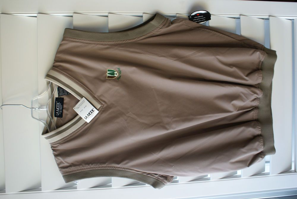 Pine Valley Country Club Mens Wind Vest Tan Size Small New ...