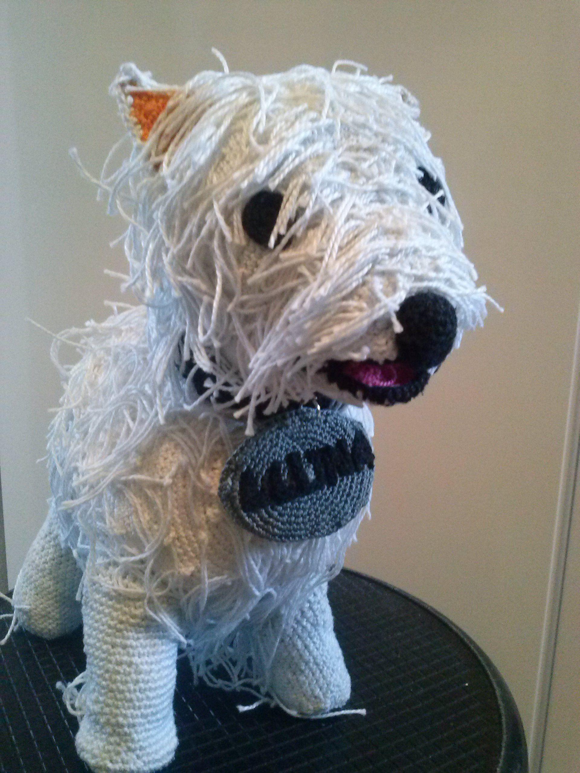 perro grande creado a partir de una foto para regalar. Creado por mi. $40 #personalizado #perro #dog #crochet #amigurumi