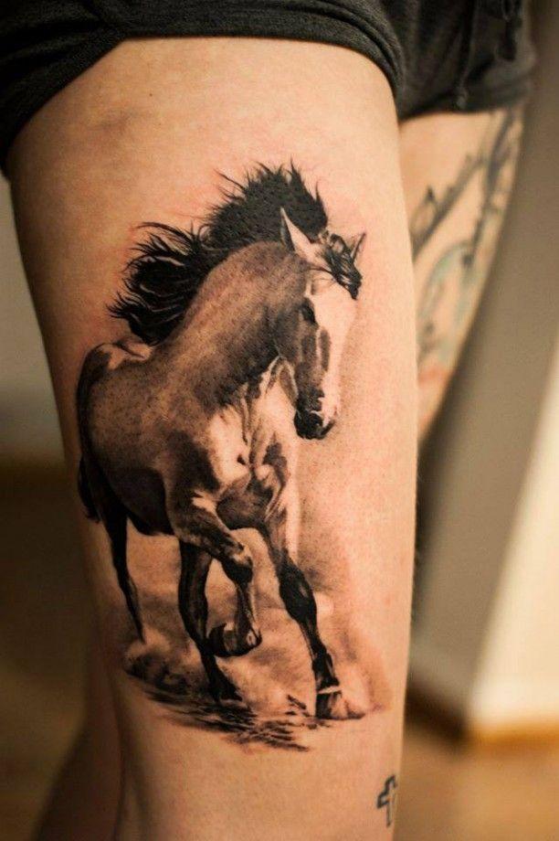 tattoo weisses pferd motiv tattoo pinterest tattoo wei wei e pferde und pferde. Black Bedroom Furniture Sets. Home Design Ideas