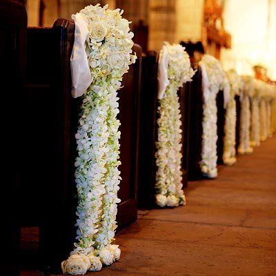 Jasmine Decorated Pews Looks And Smells Beautiful Church