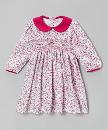 6efe7edb4 Take a look at this Red Floral Smocked Dress - Infant   Toddler by ...