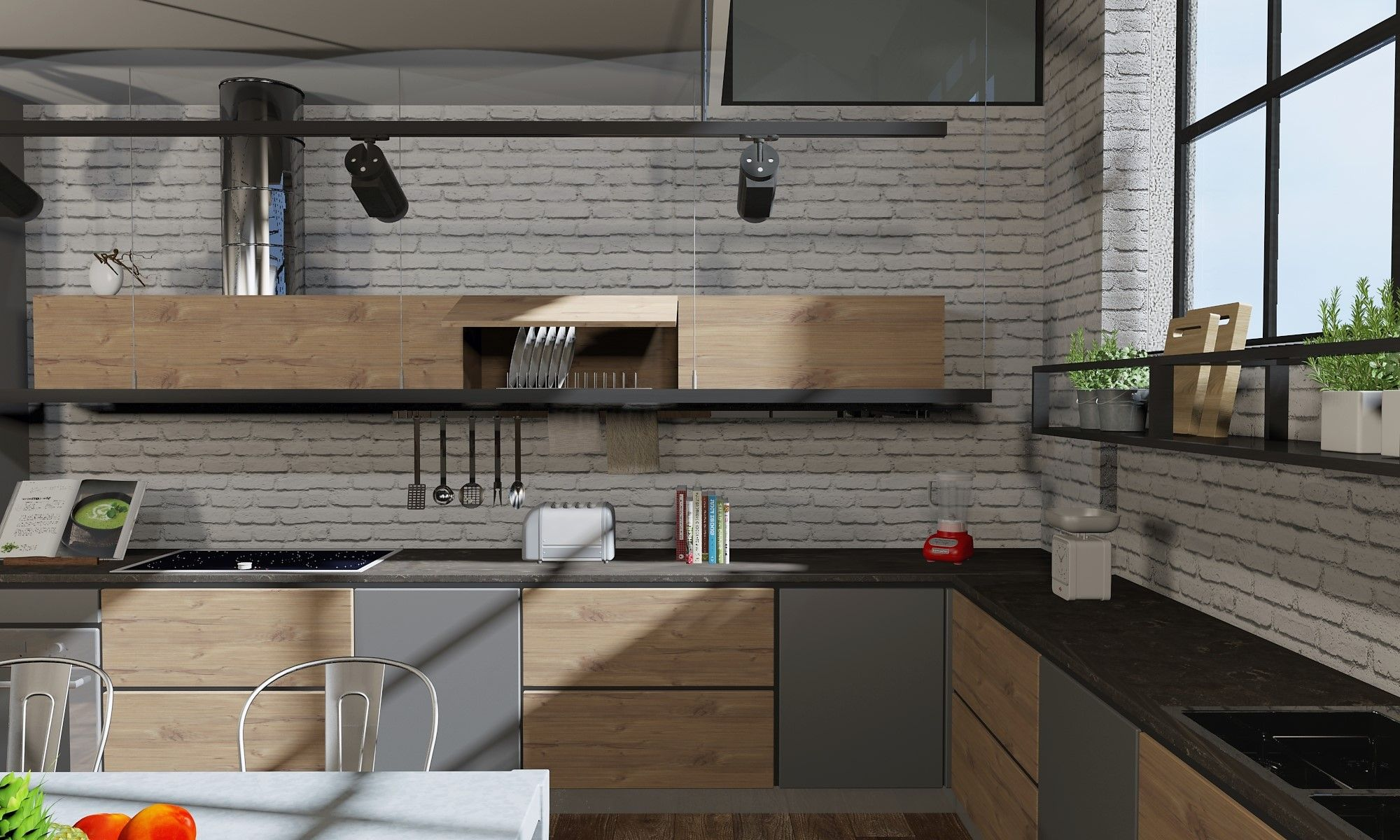 #cucinadidesign #industrialdesign #rendering #kitchen