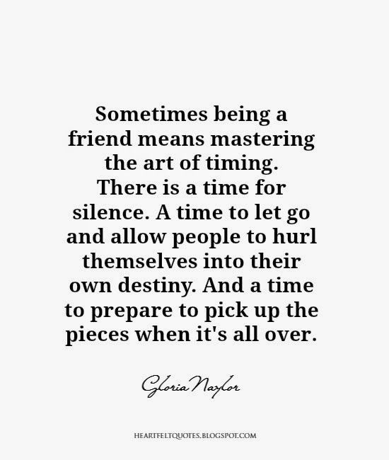 To of a when friendship go let How to
