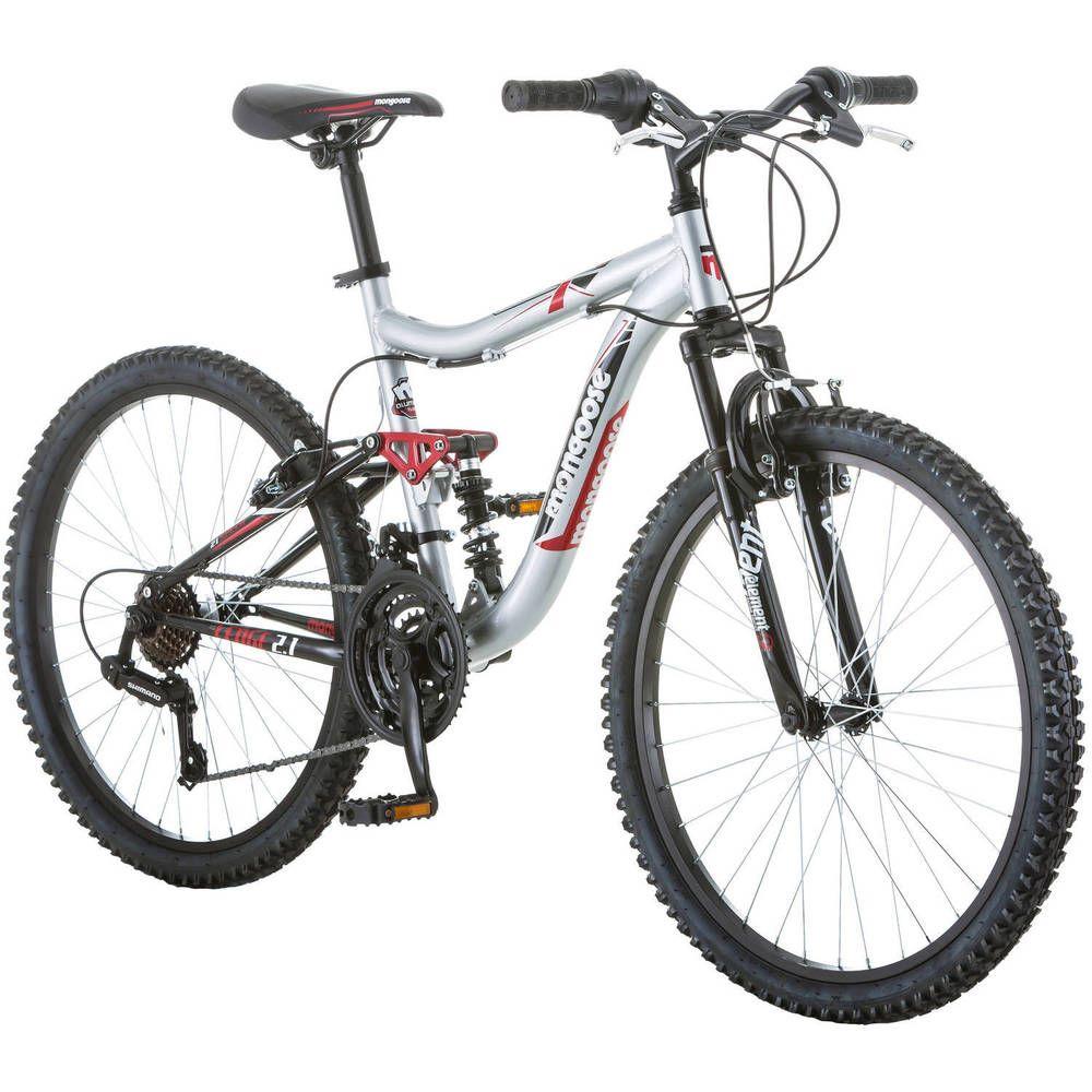 Boys Mountain Bike 24 Mongoose Bicycle Aluminum Full Suspension Frame Silver Us Boysmountainbik Kids Mountain Bikes Mongoose Mountain Bike Boys Mountain Bike
