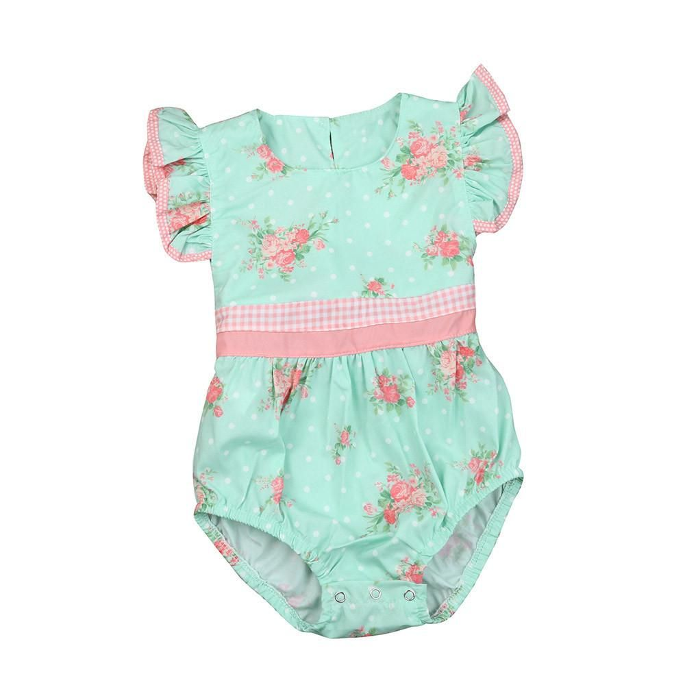 ec796ba128 Floral Chic Girls Romper