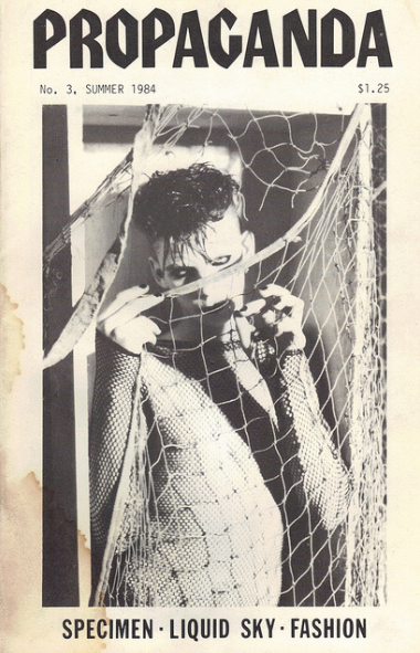 The best of Wayne Arents, one time gothic model for Propaganda Magazine, AKA 'fabulous fishnet creature' and similar nicknames. 1980's.