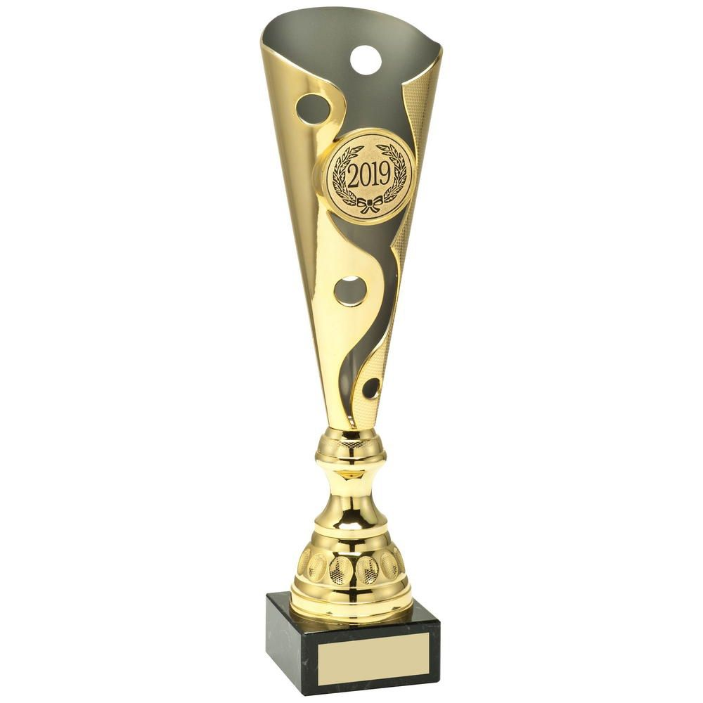 PERSONALISED GOLD CUP Presentation Trophy Award FREE ENGRAVING ALL SPORTS