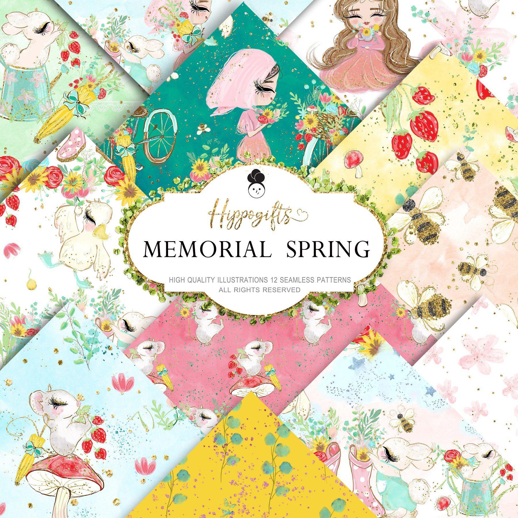 Spring patterns Spring patterns, Spring fabric pattern