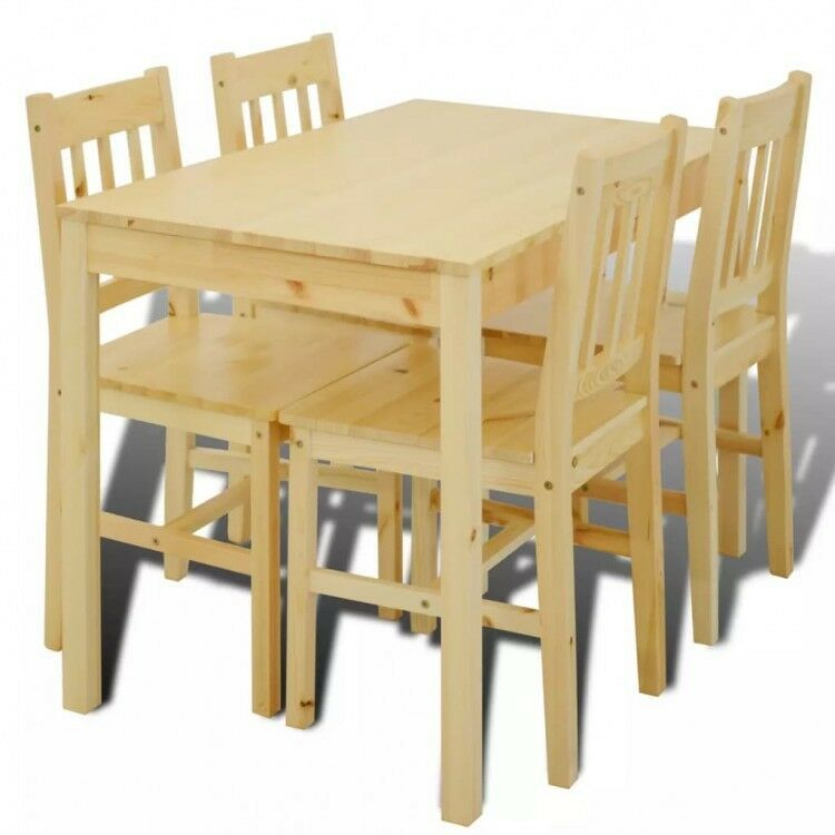 wooden dining table chair set of 4 kitchen room stand