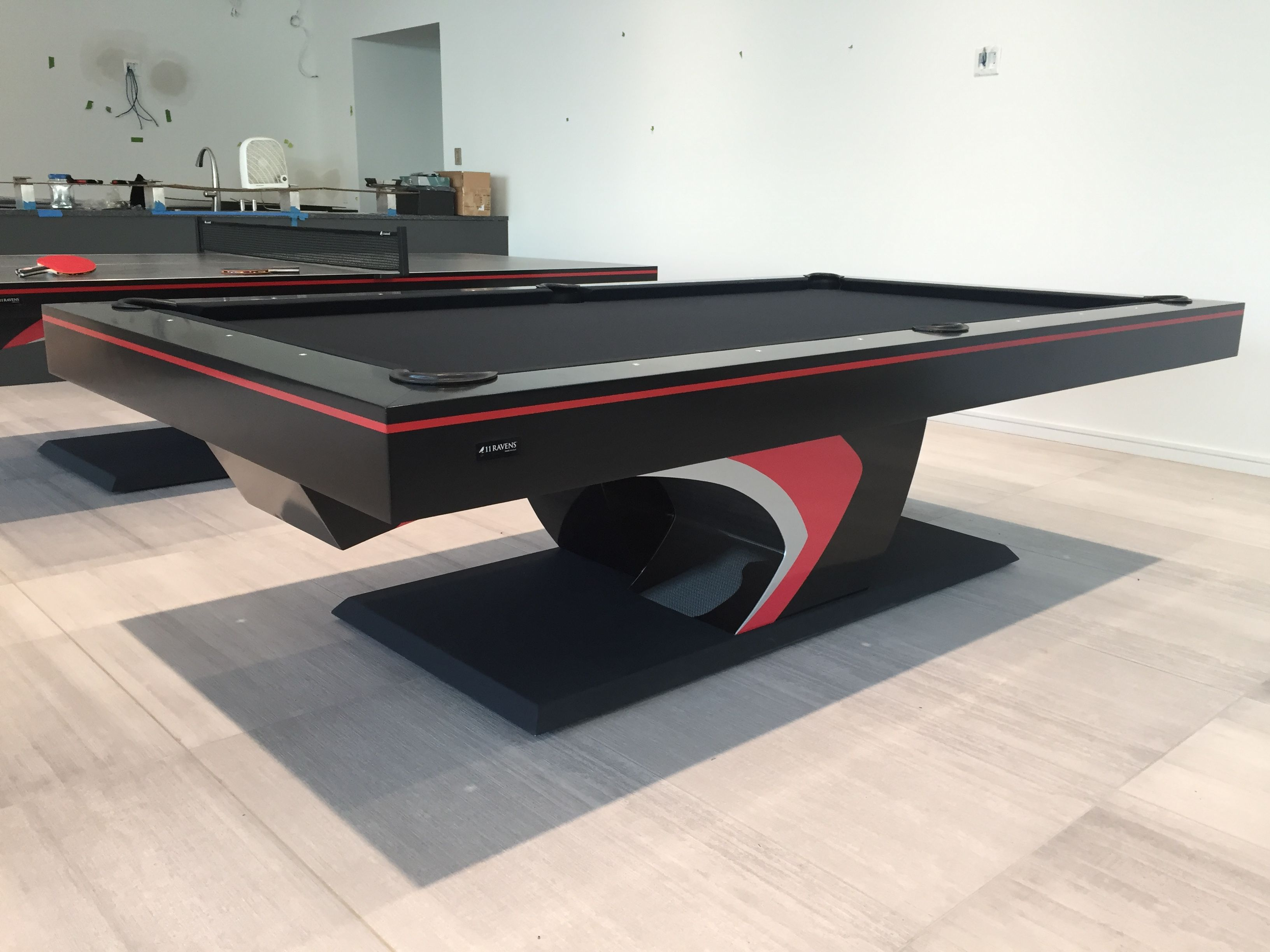 For A Bolder Presence The Force Is Presented A Piece Dramatically Sculpted To Produce A Stunning Silhouette That Is Modern Pool Table Pool Table Modern Pools