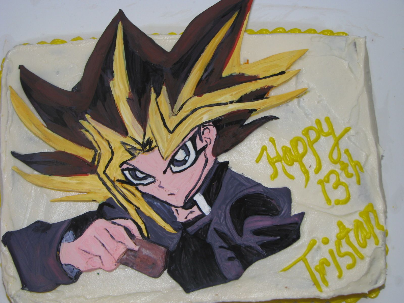 yu gi oh cake this is another modelling chocolate topper that i