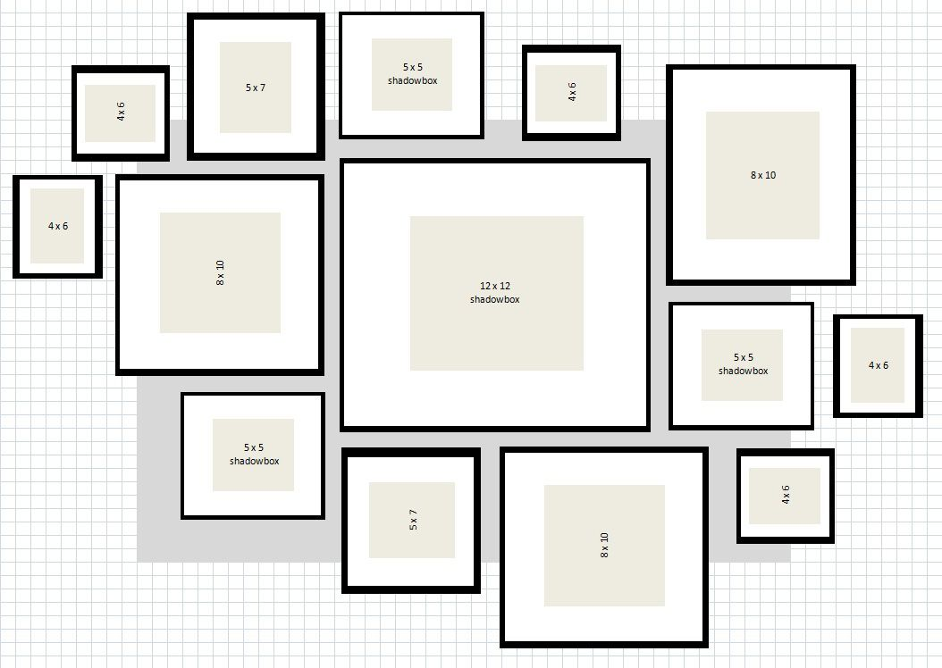 ikea ribba gallery wall layout 2 excel s jour. Black Bedroom Furniture Sets. Home Design Ideas