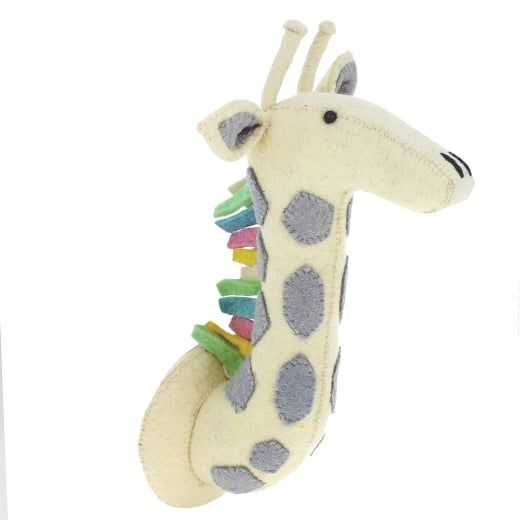 Fiona Walker England Pastel Safari Giraffe Felt Animal Head Wall
