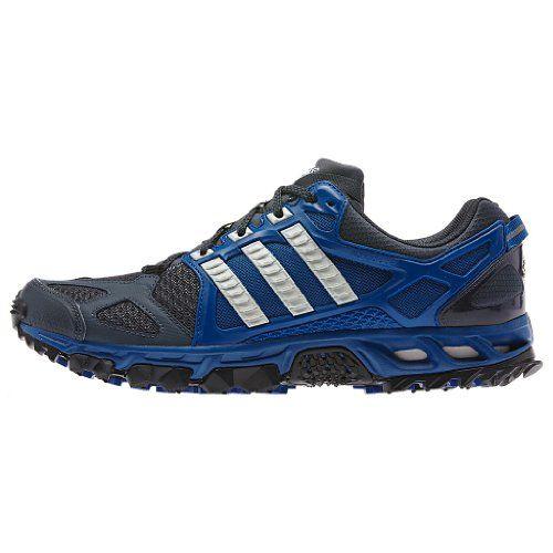 Mens Adidas Kanadia 6 TR Running Shoes Dark Onyx/Chalk White/Blue D66505  http