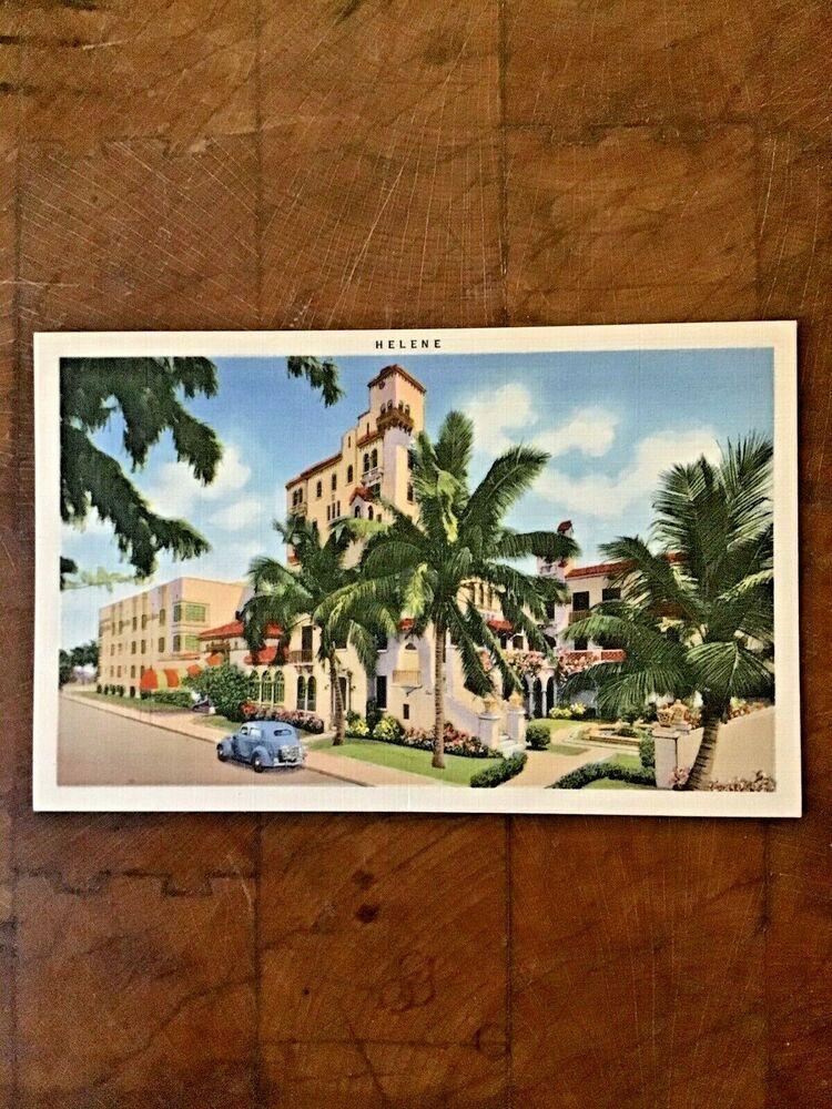 Lavin Helene Retirement Hotel Miami Beach Florida Linen Postcard 15th St In 2020 Miami Beach Florida Hotel Miami Beach Florida Miami Beach