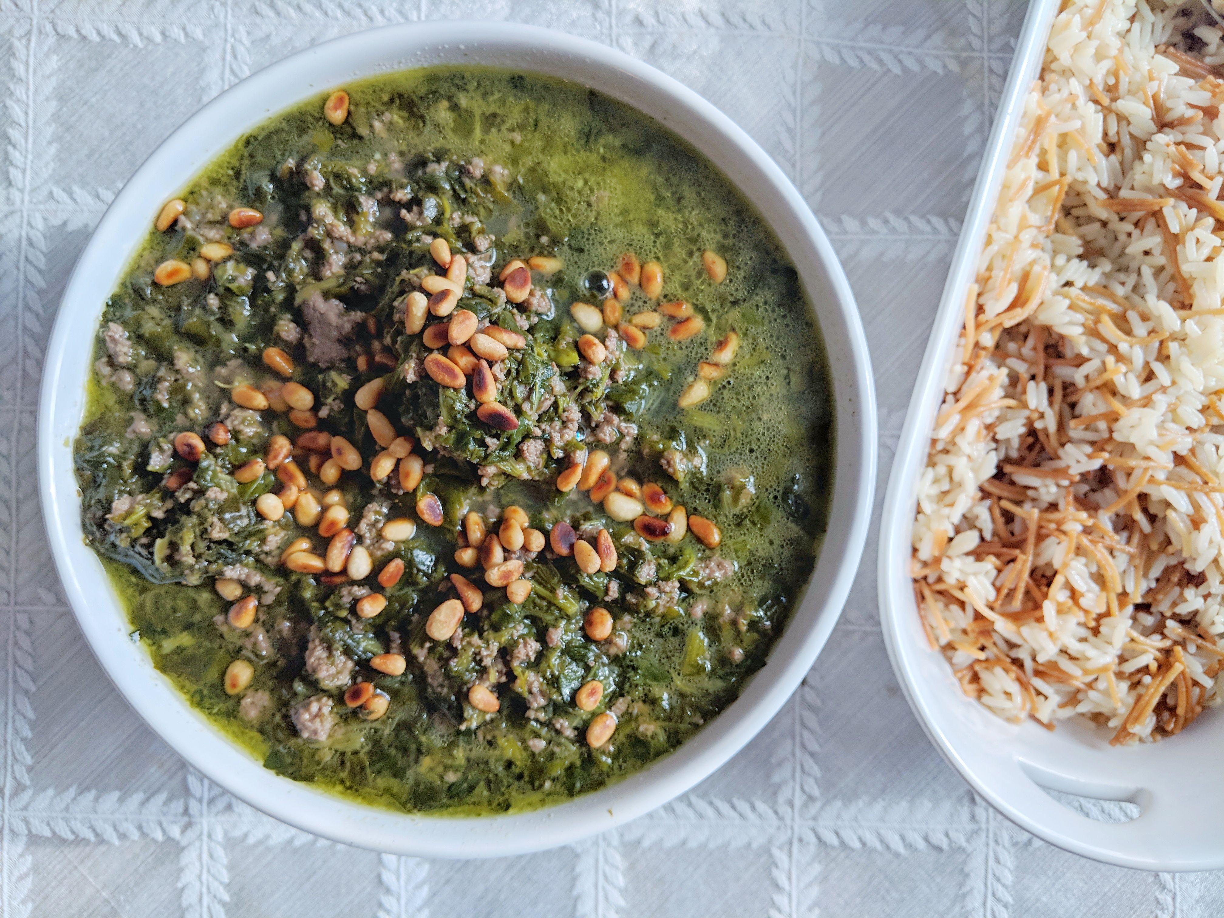 Spinach Stew اسبانخ Main Course Recipes Stew Armenian Recipes