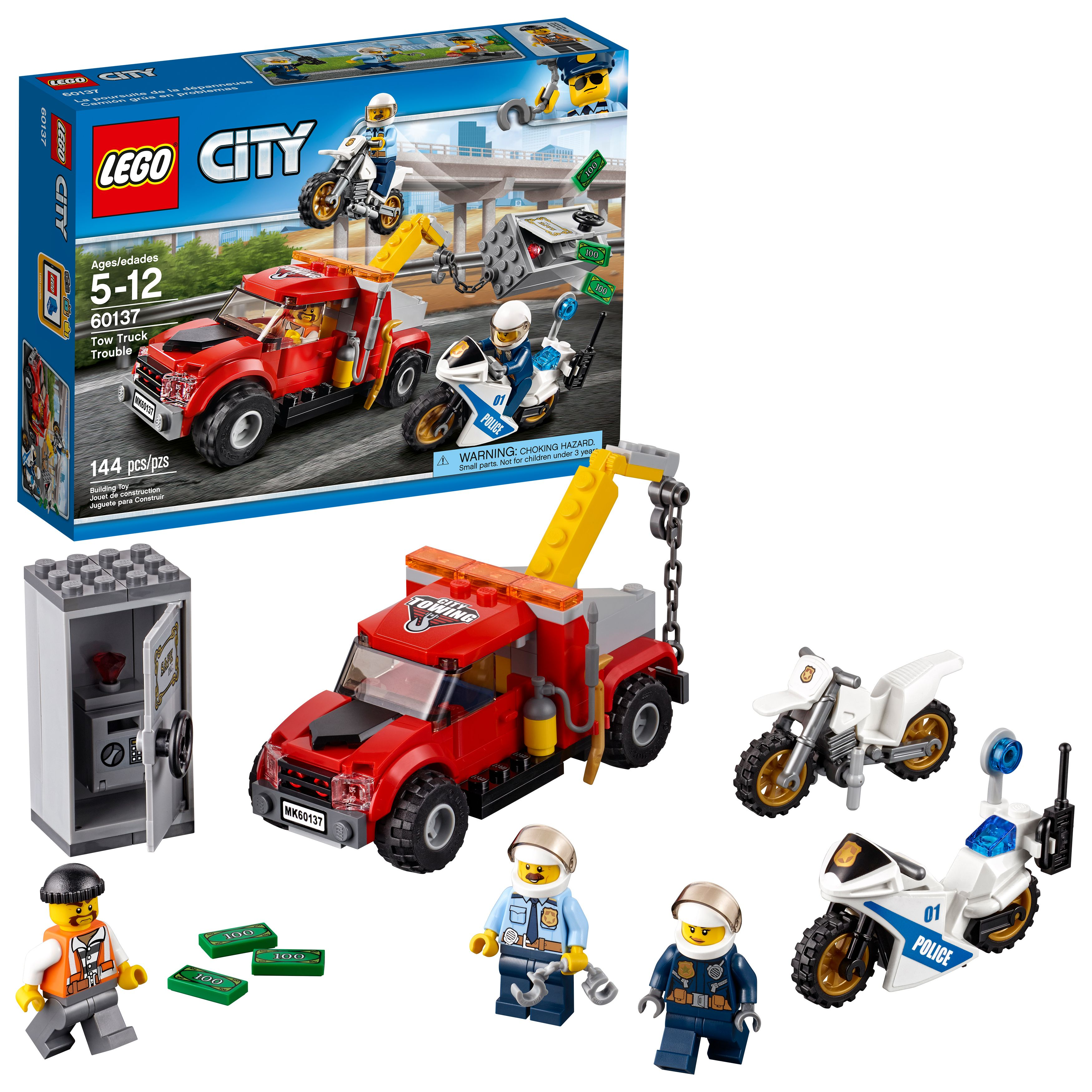 Lego City Police Tow Truck Trouble 60137 Walmart Com Lego City Police Lego City Tow Truck