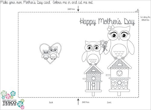 Printable Mother S Day Coloring Card Templates Mothers Day Coloring Cards Mothers Day Card Template Valentines Day Card Templates