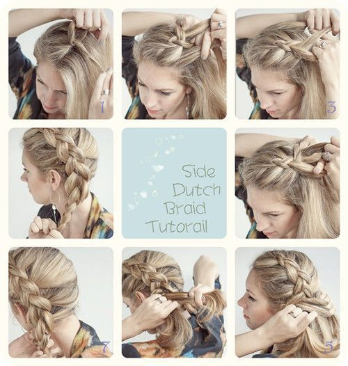 Easy Side Dutch Braid...i wish there were better instructions to ...