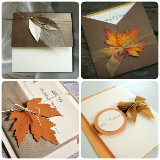 1000 images about Trouwkaarten – Fall Invitations for Weddings