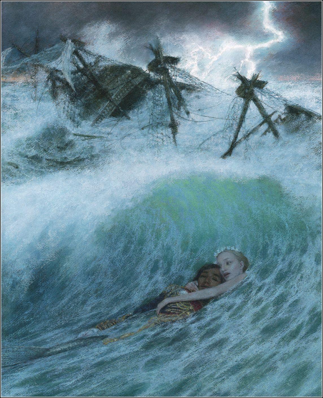 The Little Mermaid. Illustrator Christian Birmingham. - Book Graphics