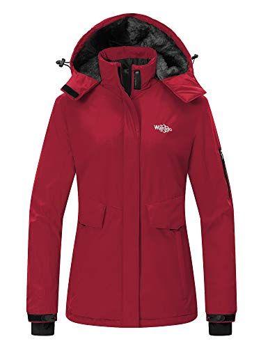 Wantdo Women s Mountain Ski Fleece Jacket Waterproof Parka Windproof Warm Winter  Raincoat with Hood Outdoors 69.65 (as of November 17 fa5a97592