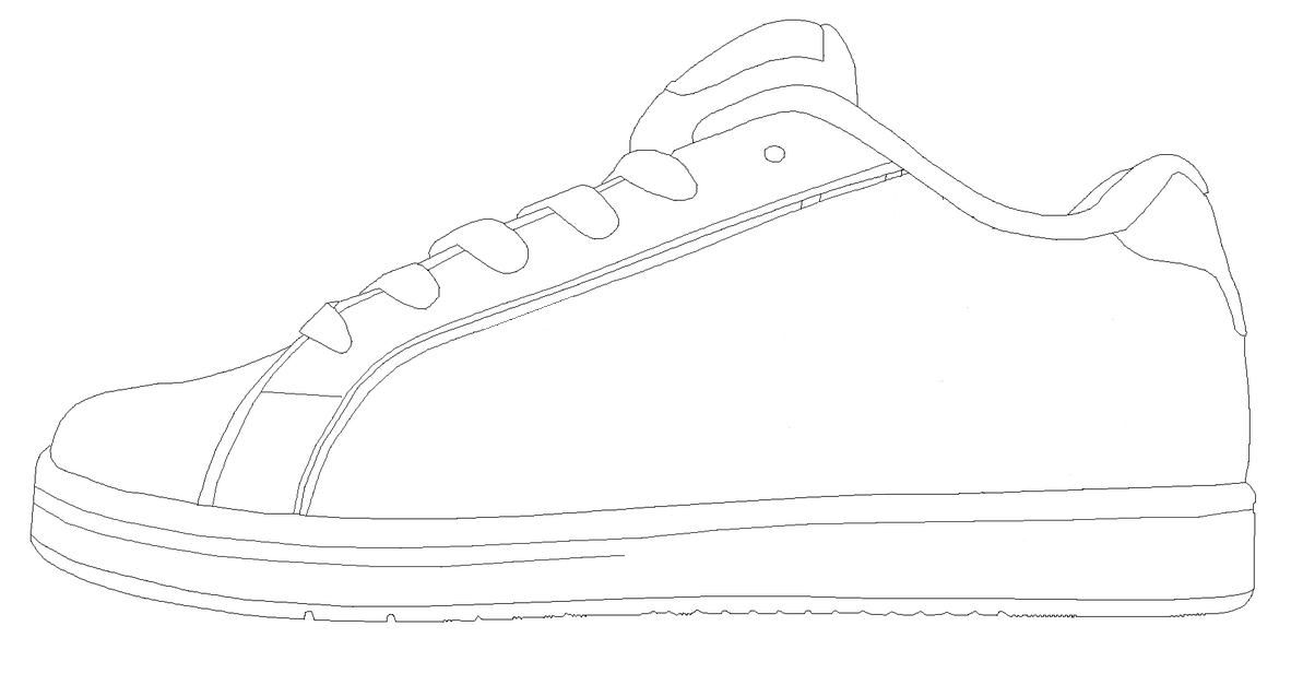 Show template to use for school shoes classroom pete for Draw your own design