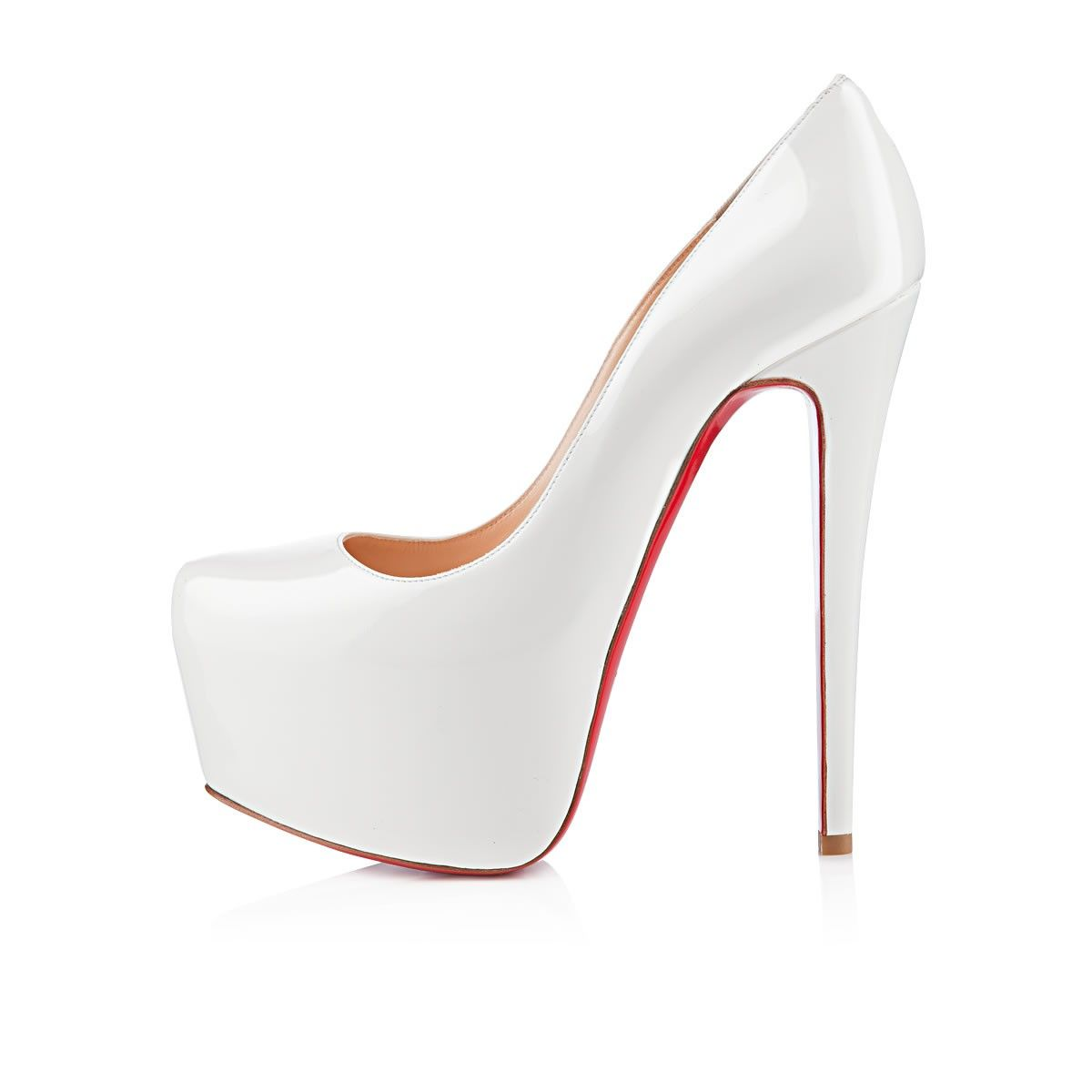 Christian Louboutin Daffodile 160mm white patent leather
