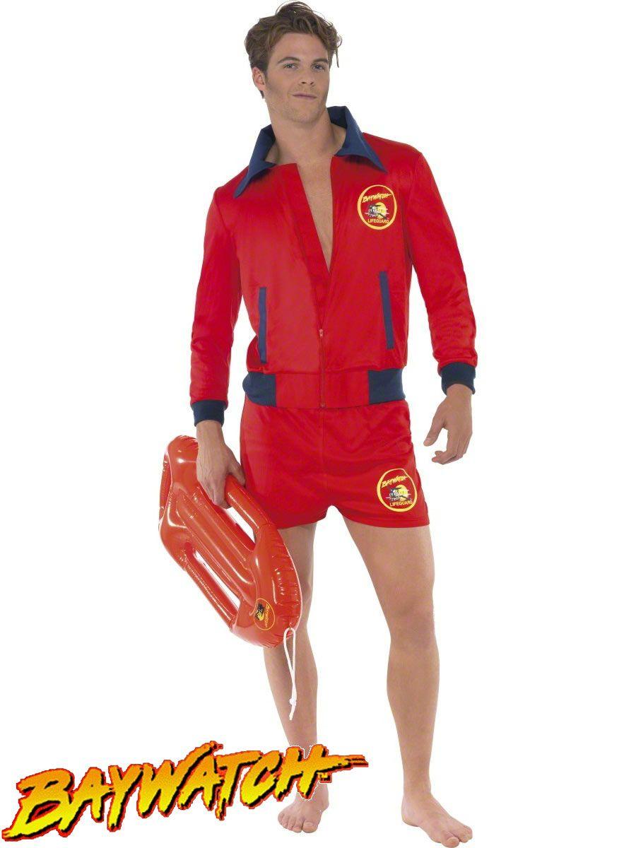 Baywatch Costume Adult Lifeguard Halloween Fancy Dress