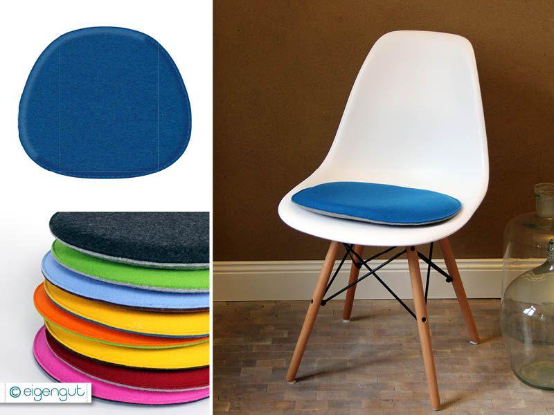 sitzkissen fr designersthle sitzkissen gepolstert aus wollfilz passen fr eames chair eigengutde - Eames Chair Sitzkissen