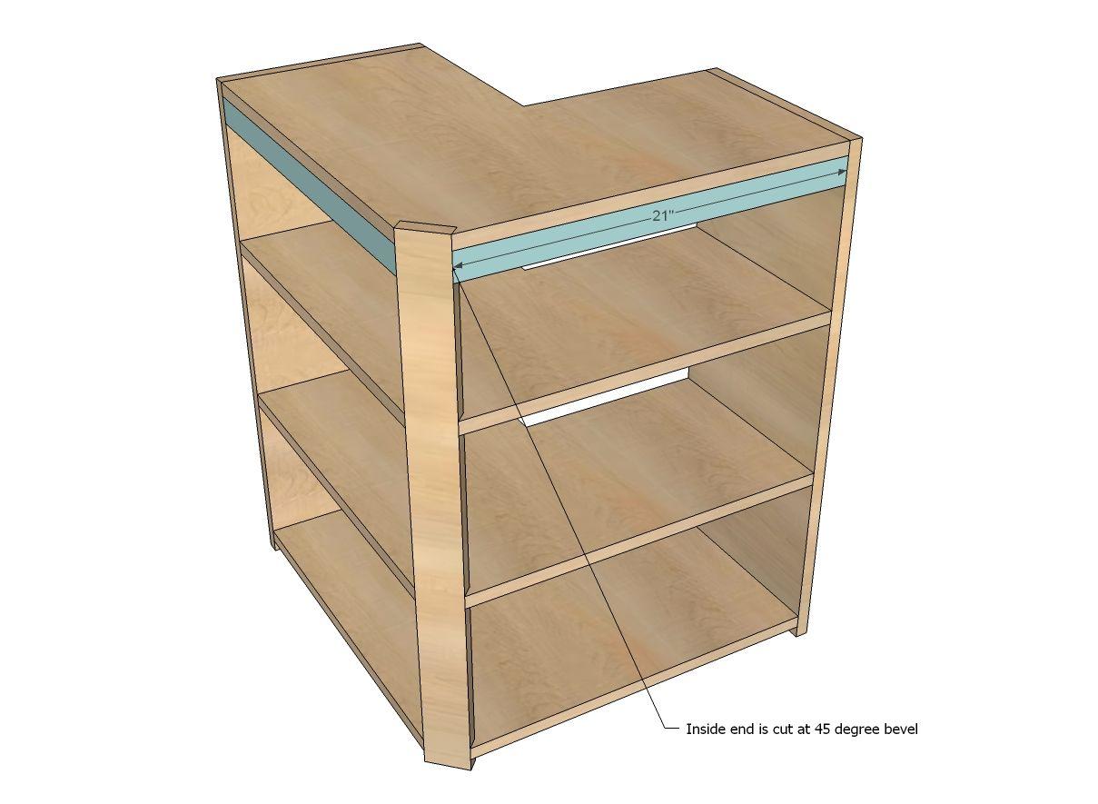 Wall Corner Pie Cut Kitchen Cabinet
