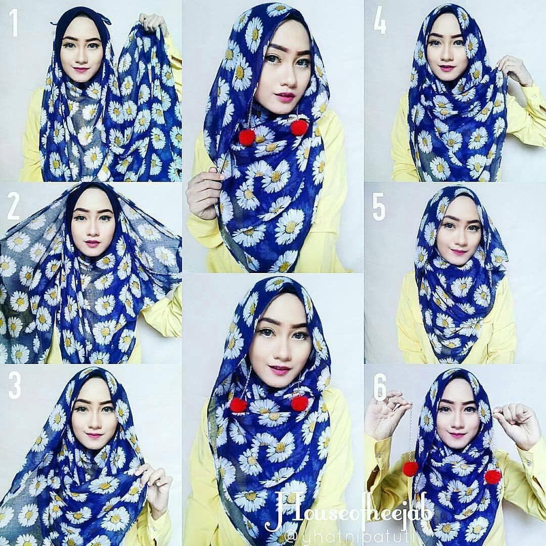 Tutorial Hijab Memakai Anting Pom Pom Tutorial Lif Co Id