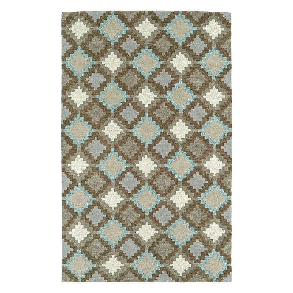 Kaleen Tribal Ember Geometric Wool Rug, Grey