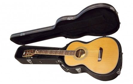 Washburn Parlor Wp26snsk With Case Natural Stain Guitare Folk Acoustique Guitare Acoustique Electro
