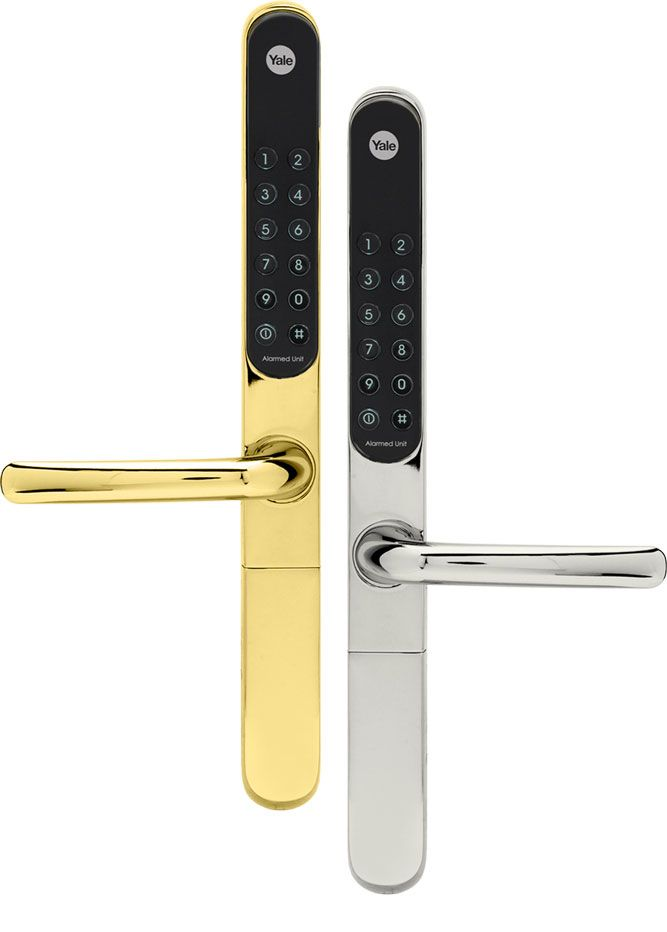 Yale Keyfree Connected With Gold And Silver Finish Keyless Door Lock Keyless Entry Locks Door Locks