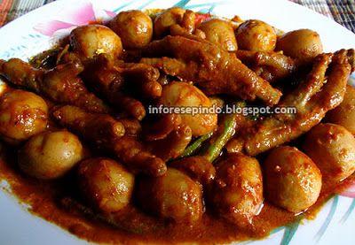 Resep Ceker Ayam Telur Puyuh Bumbu Semur Pedas Aneka Resep Masakan Serba Nusantara Resep Masakan Resep Resep Ayam